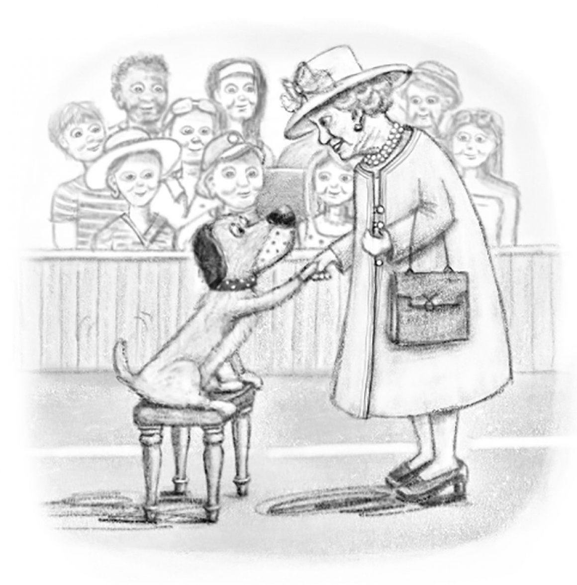WimbledonWoof Queen Sketch