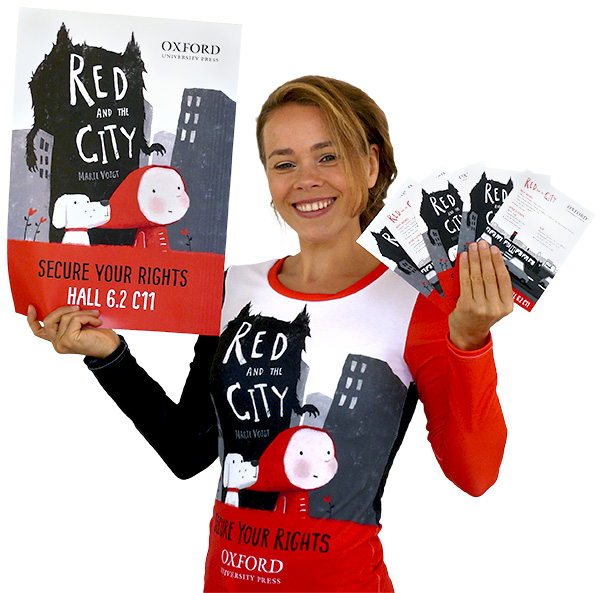 Marie Voigt promoting Red and the City