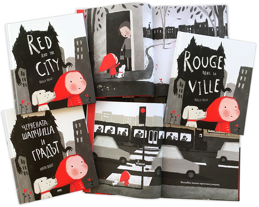 Red and the City in English, French and Bulgarian