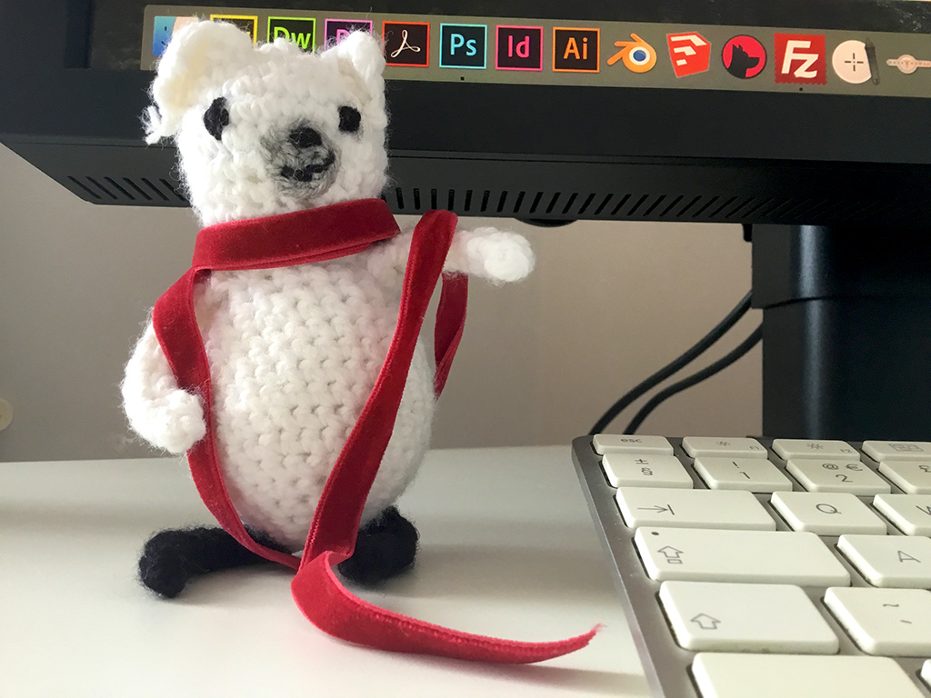 The commissioning editor of one publisher had even knitted one of my characters